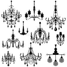 Download Set Of Decorative Elegant Luxury Vintage Crystal Chandelier Icon Stock Vector