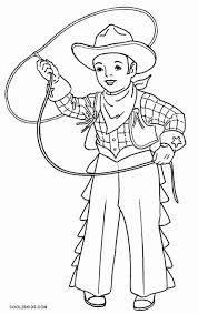 Printable Cowboy Coloring Pages For Kids