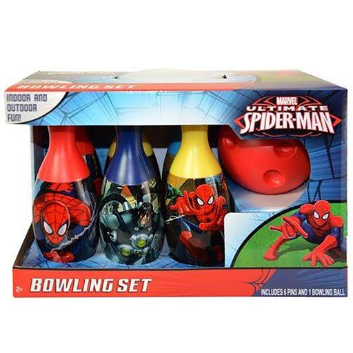 Marvel Ultimate Spiderman Bowling Set - 6 Pins, 1 Ball, Age 2