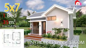 100 One Bedroom Design Small House Plans 5x7 With Gable Roof Tiny House Plans