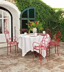 Outdoor Patio With Red Metal Patio Chairs - Choosing Tips For ... Crosley Griffith Outdoor Metal Five Piece Set 40 Patio Ding How To Paint Fniture Best Pick Reports Details About Bench Chair Garden Deck Backyard Park Porch Seat Corentin Vtg White Mid Century Wrought Iron Ice Cream Table Two French White Metal Patio Chairs W 4 Chairs 306 Mainstays Jefferson Rocking With Red Choosing Tips For At Lowescom