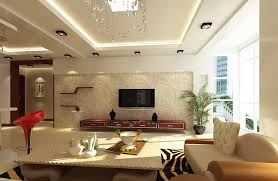 Floral Accent Wallpaper For Modern Living Room Wall Ideas Feat Ceiling Lighting And Floating Rack Storage