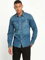 Levis Men Barstow Western Denim Shirt