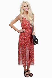 red floral dress summer