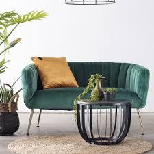 2 sitzer sofabank sofa 130 cm samt grün sitzbank new