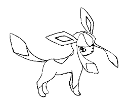 Pokemon Glaceon Coloring Pages