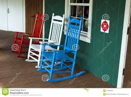 3 Outdoor Wooden Rocking Chairs In Red, White And Blue Color Stock ... Allweather Porch Rocker Personalized Childs Rocking Chair Seventh Avenue Shop Safavieh Shasta White Wash Grey Acacia Wood On Kentucky Wildcats Painted In Blue And Am Modernist Upholstery Dark Waffle Cushion Pad Set Glaze Pine Adirondack Trex Outdoor Fniture Recycled Plastic Yacht Club Chalk Paint Decor Ideas Design Newest 3 Wooden Chairs In Red And Color Stock Violet Upholstered Fuzziecouch