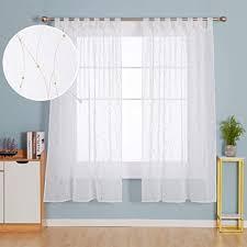 de deconovo transparente gardinen stores wohnzimmer