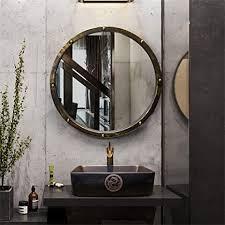de retro runde wandbehang spiegel bad verschönerung