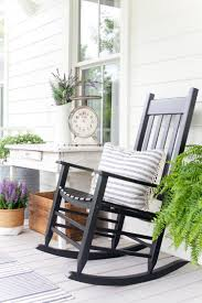 Front Porch Decorating | The Lettered Cottage | Southern Style ... Decorating Pink Rocking Chair Cushions Outdoor Seat Covers Wicker Empty Decoration In Patio Deck Vintage 60 Awesome Farmhouse Porch Rocking Chairs Decoration 16 Decorations Wonderful Design Of Lowes Sets For Cozy Awesome Farmhouse Porch Chairs Home Amazoncom Peach Tree Garden Rockier Smart And Creative Front Ideas Amazi Island Diy Decks Small Table Lawn Beautiful Cheap Best Beige Folding Foldable Rocker Armrest