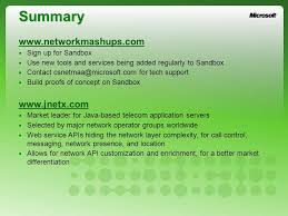 Making Services Simple Adding A Network Convergent Service To The
