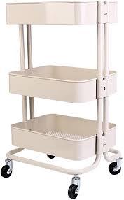 homgrace küchenwagen servierwagen rollwagen allzweckwagen nischenwagen beistellwagen mit 3 ablagen etagen rollwagen mit rollen für küche badezimmer