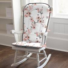 Light Coral Cherry Blossom Rocking Chair Pad