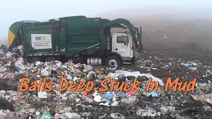 Garbage Trucks Stuck In The Mud At The Landfill - All Roll Off All ...