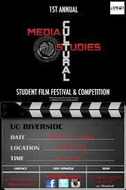 Poster The Inaugural Media And Cultural Studies Student Film Festival