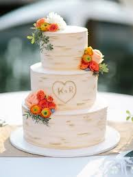 These Rustic Wedding Cakes With Flowers Greenery And Fall Fruit Atop Wooden Cake Stands Are The Perfect Finish To A Barn Reception Or