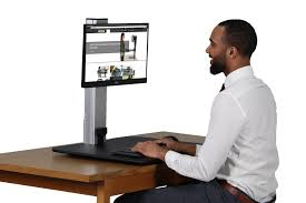 Dual Monitor Standing Desk Attachment by Victor Dc400 High Rise Electric Height Adjustable Standing Desk