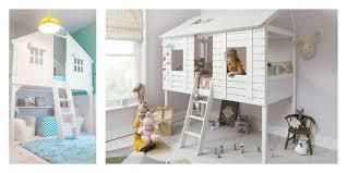 cabane dans la chambre chambre enfant lit cabane fille en blanc amenagement chambre enfant