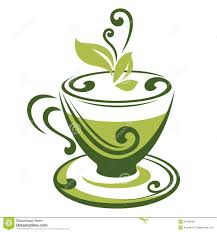China Porcelain Cup Saucer Fresh Green Tea Leaf Stock Vector Art