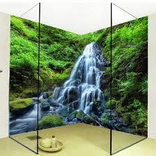 3d wallpaper wasserfälle wald natur landschaft foto