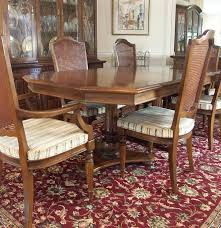 Ethan Allen Dining Room Set by Ethan Allen Dining Table And Six Chairs Ebth