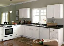 Dark Wood Parquete Flooring Black Granite Countertop White Marble