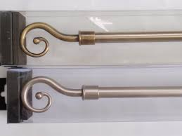 Decorative Traverse Rod With Clips by Decorative Curtain Rods Wood Marble Metal