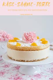 käse sahne torte mit orangenfilets und knusperboden