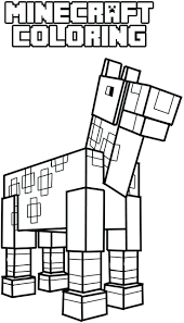 Minecraft Coloring Pages Mutant Creeper Steve Free To Print Horse Full Size