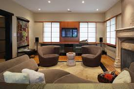 Dark Brown Couch Decorating Ideas by Living Room Theaters Portland Classic White Grey Pendant Light