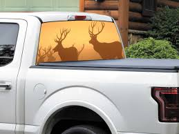 Product: Deers In The Sunset Rays Rear Window Decal Sticker Pick-up ... Toyota Tacoma American Flag Rear Window Decal 2016 Importequipment Window Graphics Digital Print On Perforated Vinyl With Custom Pickup Truck Graphics Best Decals In Calgary For Trucks Cars Car Allen Signs Ford Logo 2018 Idelca Shop Between Armstrong And Vernon Bc Vehicle Signcraft Huntsville Parry Sound North Bay Skulls Xtreme Digital Graphix Beach Sunset 4 Ocean Graphic Suv Van Ebay Jeep Stickers Funny Wrangler