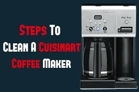 How Do You Clean A Cuisinart Coffee Maker Dcc 1150
