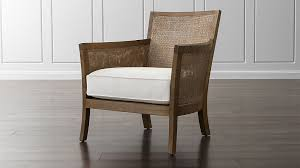 Crate And Barrel 2 Office Chair by Blake Rattan White Cushioned Chair Crate And Barrel