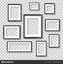 Picture Frames On Transparent Background Stock Vector