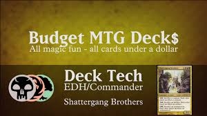 budget shattergang brothers edh commander sacrifice youtube
