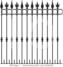 Halloween Cemetery Fence by Graveyard Clipart Fence Pencil And In Color Graveyard Clipart Fence