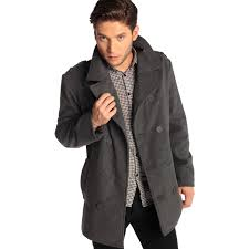 alpine swiss jake mens pea coat wool blend double breasted dress