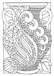 Free Coloring Page Adult Art Deco Vase Flower