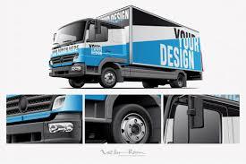 100 Comercial Truck Light Commercial Mockup