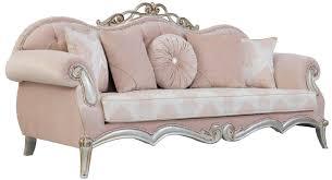 casa padrino luxus barock wohnzimmer sofa mit dekorativen kissen rosa silber gold 230 x 90 x h 105 cm prunkvolle möbel im barockstil
