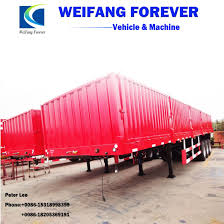 100 Semi Truck Trailers Flatbed Cargo With Side Wall For Sale_Cheap