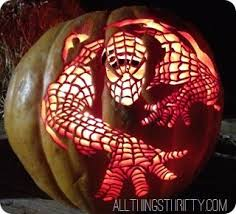 Spiderman Pumpkin Carving by How To Carve And Shade Pumpkins Step By Step Tutorial All
