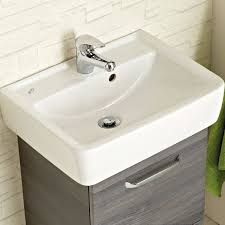 badezimmer waschtisch alina 66 in graphit struktur dekor inkl waschbecken b h t 55 64 39cm