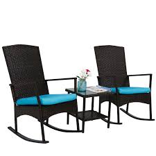 Amazon.com : Kinbor 3PCS Outdoor Rattan Rocker Chair Side Tea Table ... Shop Cayo Outdoor 3piece Acacia Wood Rocking Chair Chat Set With 30 Fresh Wicker Patio Fniture Ideas Theoaklanduntycom Wooden Seat 10 Best Chairs 2019 Cozy Front Porch With Capvating High Quality Collections Polywood Official Store Pong Ikea Amazoncom Sunlife Indooroutside Lounge Rocker Nuna W Cushion Of 2 By Modern Allmodern Cushions Grey Glider Replacement Unique Contemporary Designs All Design