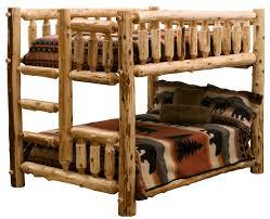 full over full over queen cedar log bunk bed twbb rustic log