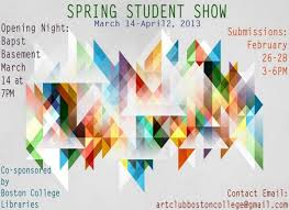 Exhibit Poster The Spring Student Art