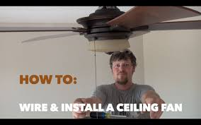 Ac 552 Ceiling Fan Wiring by How To Wire And Install A Hampton Bay Ceiling Fan Youtube
