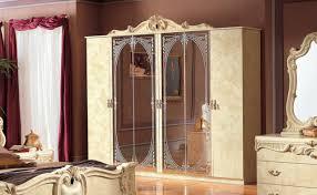 schlafzimmerschrank kleiderschrank beige hochglanz möbel