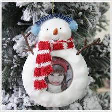 CeramicsLife Cute Snowman Christmas Tree Ornaments Decorated Baby Photo Frames Exquisite Small Gift To Send Friends