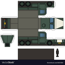 100 Truck Papper Paper Model Of An Old Military Truck Royalty Free Vector